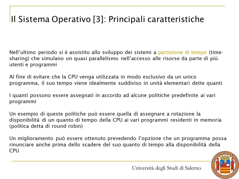 Il Sistema Operativo [3]: Principali caratteristiche